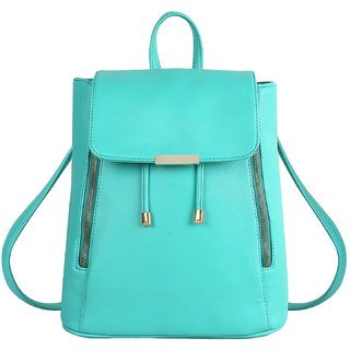 f21accf739 Styler king Women Girls Ladies Backpack Fashion Shoulder Bag Rucksack PU  Leather Travel bag (Sky Blue)