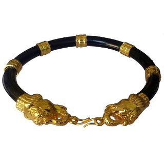 Elephant Face Fashion Bangle Bracelet Kada (Golden)