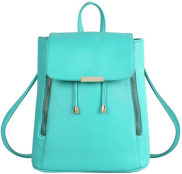 1f5aa761a573 Styler king Women Girls Ladies Backpack Fashion Shoulder Bag Rucksack PU  Leather Travel bag (Sky Blue)