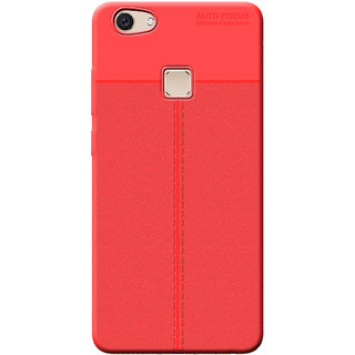 Cellmate Antigrip Flexible Back Cover For Vivo V7 Plus - Red
