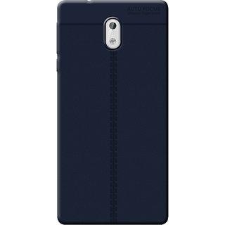 Cellmate Antigrip Flexible Back Cover For Nokia 3 - Blue