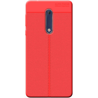 buy online ec60d a58fb Cellmate Antigrip Flexible Back Cover For Nokia 5 - Red