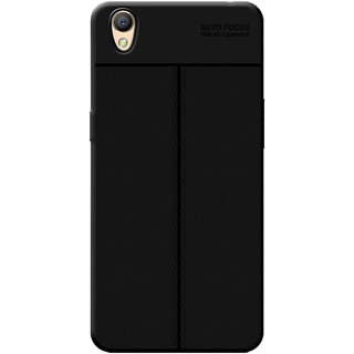 Cellmate Antigrip Flexible Back Cover For Oppo A37 - Black