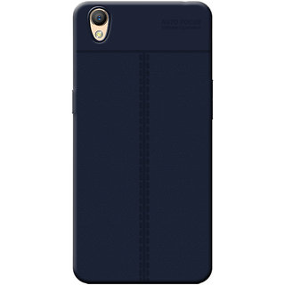 Cellmate Antigrip Flexible Back Cover For Oppo A37 - Blue