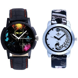 Black Dial 3D Designer And Black Peacock Couple Analogue Watch By VB INTERNATIONAL