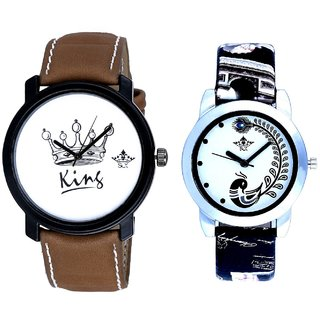 King Taj With Black More Couple Analogue Wrist Watch By VB INTERNATIONAL