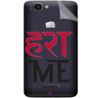 Snooky Digital Print Tpu Transpanent Mobile Skin Sticker For Micromax Canvas 2 A120