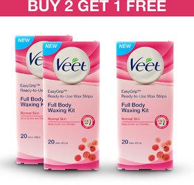 Veet Cold Wax Strips (Normal) - Buy 2 Get 1 Free