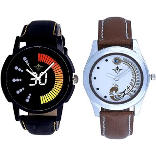 Death Race With Brown More Couple Analogue Wrist Watch By VB INTERNATIONAL
