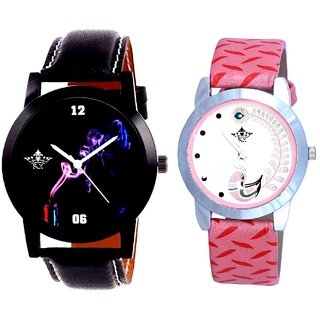 Smoking Men Designer With Pink More Couple Analoge Wrist Watch By VB INTERNATIONAL