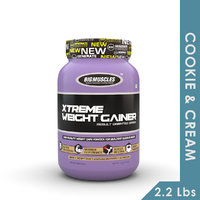 Big Muscles Xtreme Weight Gainer 2.2 Lb (Cookie & Cream
