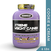 Big Muscles Xtreme Weight Gainer 6 Lb (Cookie & Cream)