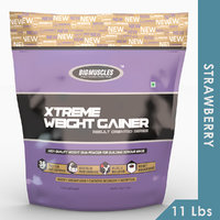 Big Muscles Xtreme Weight Gainer 11 Lb (Strawberry)