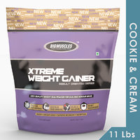Big Muscles Xtreme Weight Gainer 11 Lb (Cookie & Cream)