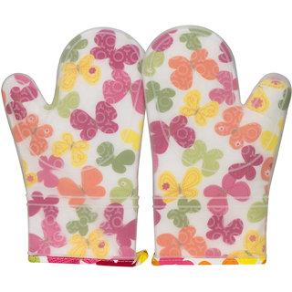 kudos set of 2 Cooking Gloves, Oven  Microwave Safe Gloves - Butterfly Design