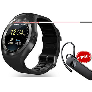 Bluetooth Smart Watch Compatible With All 3G  4G Phone With Camera And Sim Card Support + Bluetooth Handfree Combo