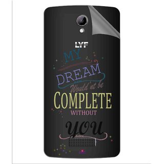 Snooky Digital Print Tpu Transpanent Mobile Skin Sticker For LYF Wind 3