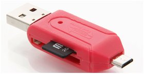 Pinnaclz PNZ OTG SD  MICRO Card Reader (Multicolour)