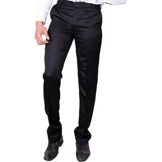 208406ad021 Buy VILLAIN Black Coloured Slim Fit Formal Pants for men Online - Get 42%  Off