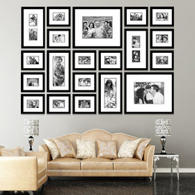 Elegant Arts and Frames Group 20 Black Synthetic Wall Collage Photo Frames