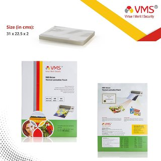 VMS Deluxe Laminating Pouch Film 125 Microns (Lamination Pouch) (225 x 310mm) set of 1