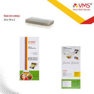 VMS Deluxe Laminating Pouch Film 125 Microns (Lamination Pouch) (100 x 230mm) specially for Aadhar card Set of 2 (200 po