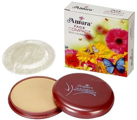 AMURA, Face Compact with Foundation 3 in 1, 13 GRM