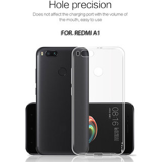 Redmi A1 High Quality Ultra-thin Transparent Back Cover