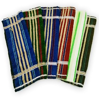 SAA Fashion Multicolor Hand Towel- Pack of 6