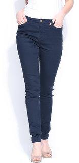 Port Women's Dark Blue  Stretchable Jeans