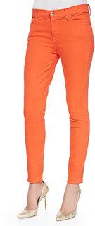 Port Women's Orange Stretchable Jeans