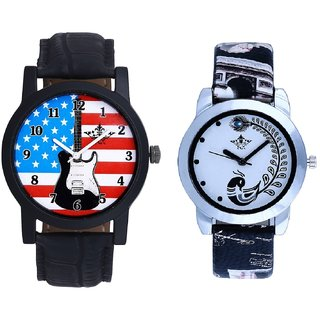 Awesome Design And Black Leather Strap Analogue Watch By Ram Enterprise