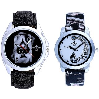 Death Race Akka And Black Leather Strap Analogue Watch By Ram Enterprise