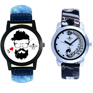 I Love Rock Handsome Round Dial And Black Leather Strap Analogue Watch By Ram Enterprise