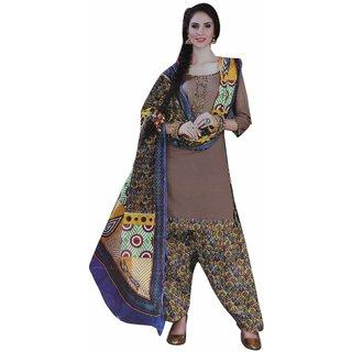 JBS SUCHI FASHION Copper Cotton  Patiyala Set Dress Material