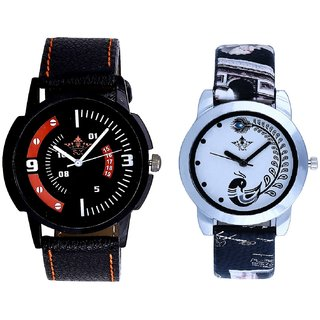 Special 3D Look And Black Leather Strap Analogue Watch By Ram Enterprise