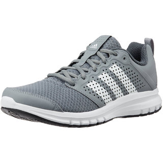Adidas Mens Gray Lace-Up Running Shoes
