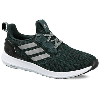 Adidas Mens Green Lace-Up Running Shoes