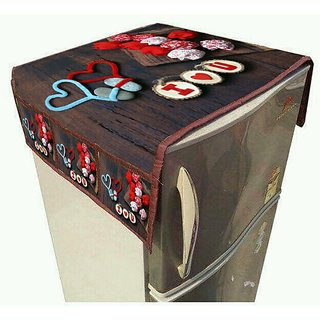 Manvi Creations Latest design Fridge Top Cover