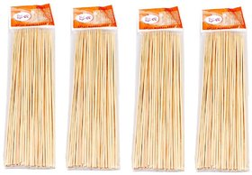 Ezee Bamboo Satay  Stick  Skewers  Barbecue Sticks   8 Inches 4 Packets 320 Pieces