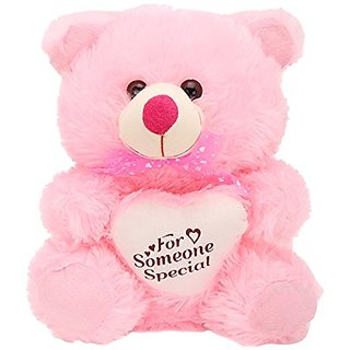 Teddy Bear with Heart 10 Inch Pink Color