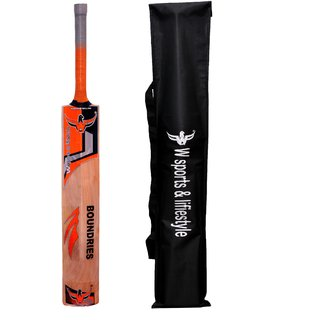 W sports 100 Boundaries Kashmir Willow Bat (Sarawak full cane) Full Size
