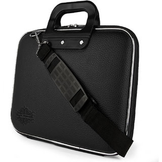 Style Homez Stylish Unisex Hard Shell Briefcase Black Laptop Bag with Strap for 14
