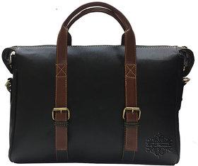 Style Homez Ultra Modern Dual-Tone Laptop Messenger Bag 15.6