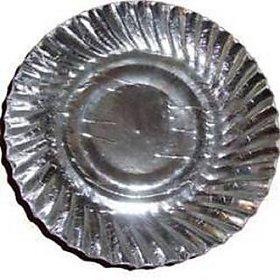 Silver Coated Paper Plate 7 Inches 50 Pieces