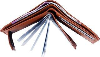 Macbery Men Tan Artificial Leather Wallet  (10 Card Slots)