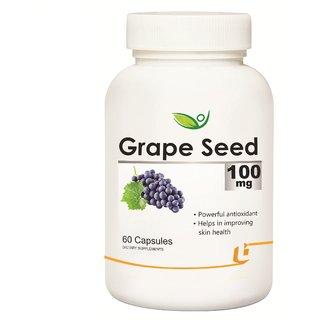 Biotrex Grape Seed - 100mg, Powerful antioxidant (60 Capsules)