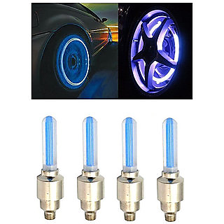 Autonext-Jaguar XF Car Tyre LED Light with Motion Sensor - Blue Color ( Set of 4)