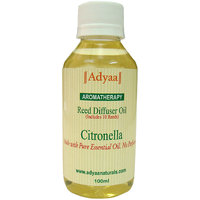 Adyaa Citronella Natural Reed Diffuser Oil Refill 100ml+ 10 Reeds