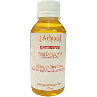 Adyaa Orange Cinnamon  Natural Reed Diffuser Oil Refill 100ml+ 10 Reeds